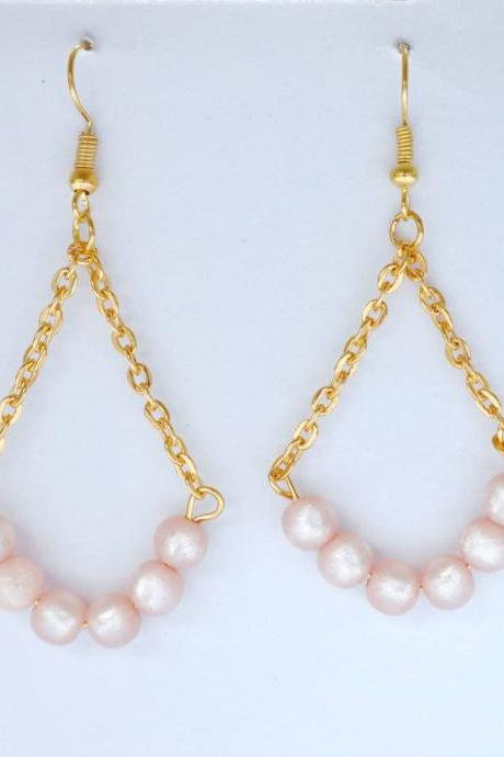 ROSE PEARLS, glam earrings, women earrings, women accessories, perfect gift for her